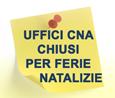 Calendario con le chiusure degli uffici CNA nelle province di Novara e VCO per le festività natalizie